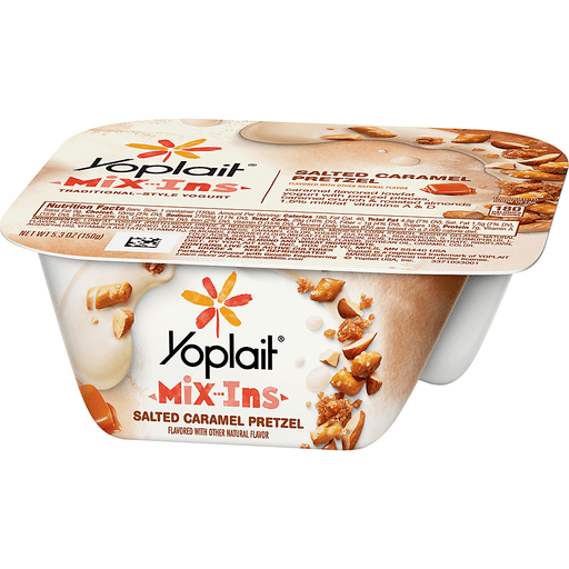Yoplait Mix-Ins Yogurt, Traditional-Style, Salted Caramel Pretzel