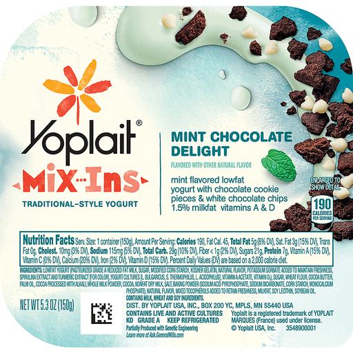 Yoplait Mix-Ins Yogurt, Traditional-Style, Mint Chocolate Delight