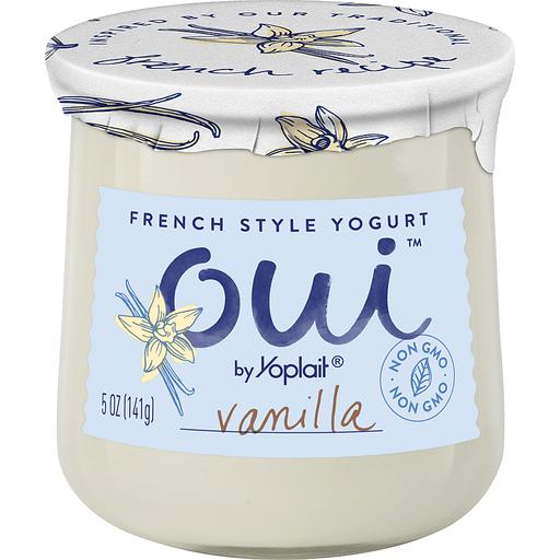 Yoplait Oui Yogurt, French Style, Vanilla