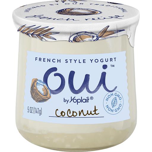 Yoplait Oui Yogurt, French Style, Coconut