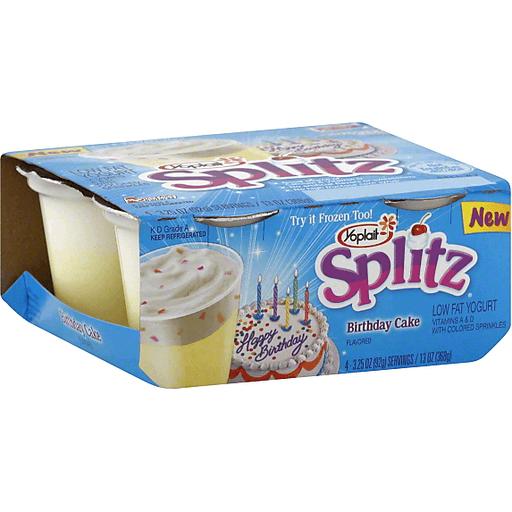 Terrific Yoplait Splitz Yogurt Low Fat Birthday Cake Flavored Yogurt Personalised Birthday Cards Bromeletsinfo