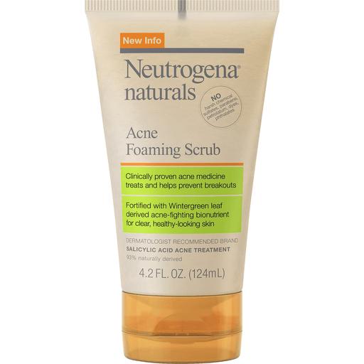 Neutrogena Naturals Acne Foaming Cleanser Bar Soap Body Wash