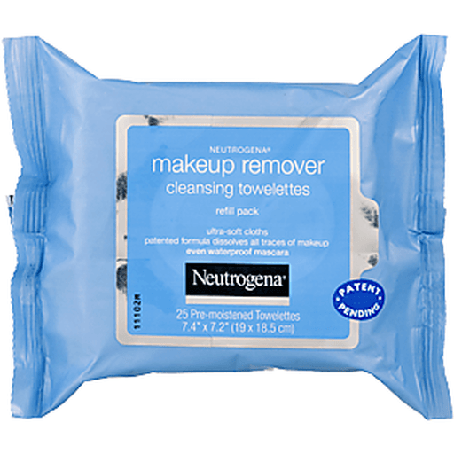 Neutrogena Cleansing Towelettes, Pre-moistened, Makeup Remover, Refill Pack