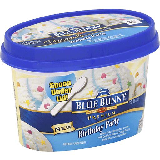 Awe Inspiring Blue Bunny Blus Birthday Party Ice Cream 5 5 Fl Oz Cup Funny Birthday Cards Online Aeocydamsfinfo