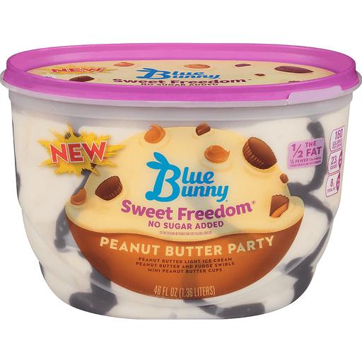 Blue Bunny® Sweet Freedom® Peanut Butter Party Reduced Fat Ice Cream 46 fl. oz. Tub