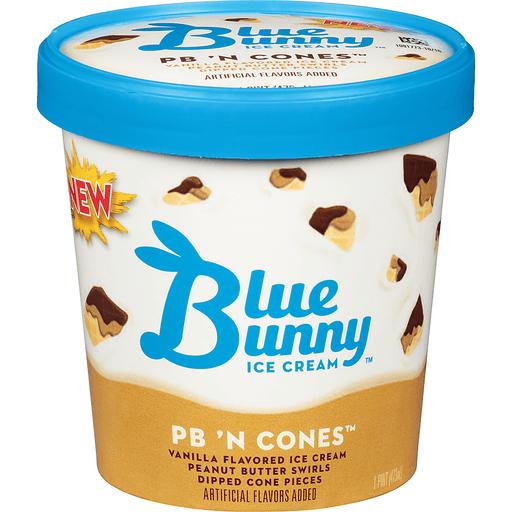 Blue Bunny Ice Cream, PB 'N Cones