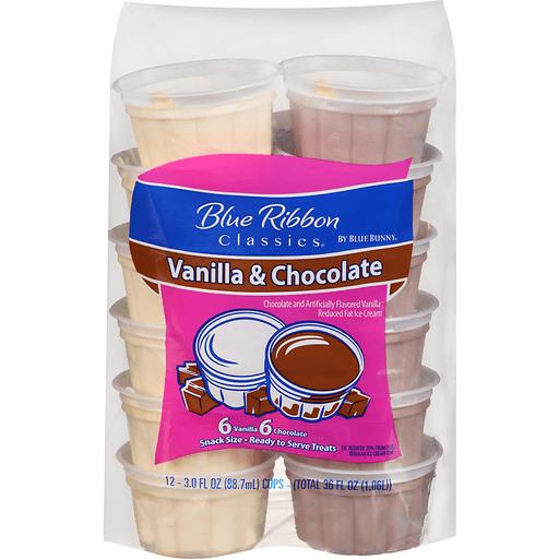 Blue Ribbon Classics Chocolate Amp Vanilla Ice Cream Cups 12