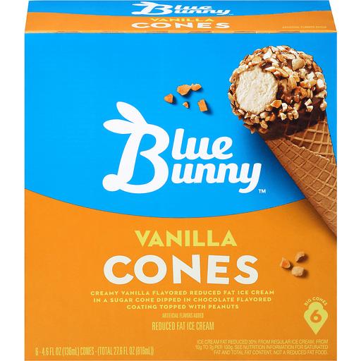 Blue Bunny™ Vanilla Cones 6 ct Box