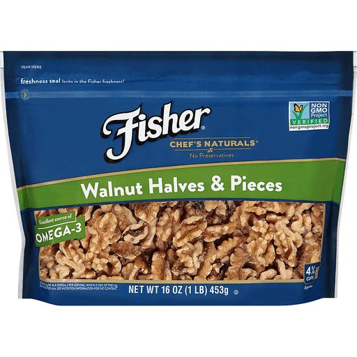 Fisher Walnut Halves & Pieces