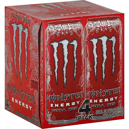 Monster Energy Drink Ultra Red - 4 PK