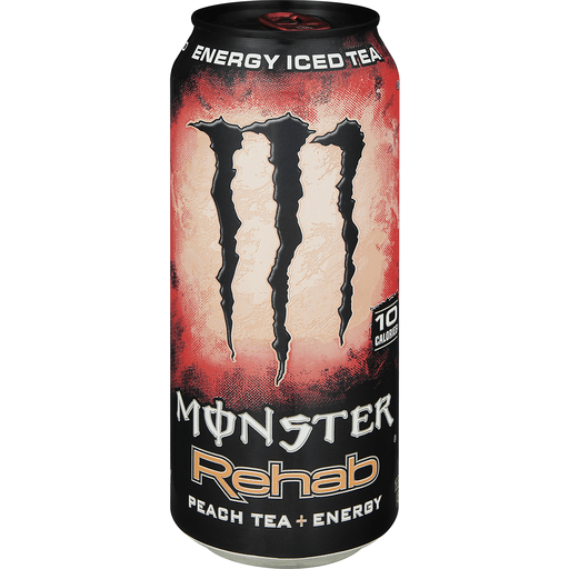 Monster Rehab Energy Drink, Peach Tea + Energy