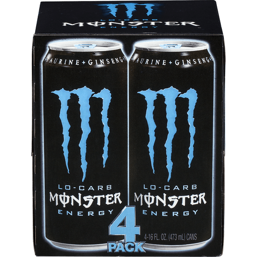 Monster Energy Energy Drink, Low-Carb, 4 pack