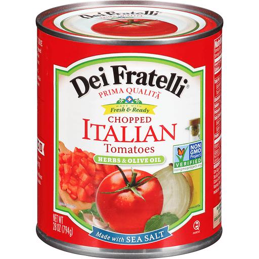 Dei Fratelli® Herbs & Olive Oil Chopped Italian Tomatoes 28 oz. Tin