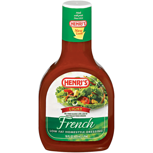 Henris Dressing, Low Fat, Homestyle, Light, French