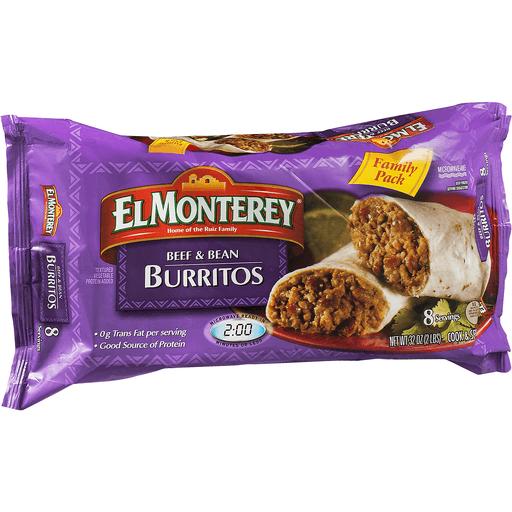 El Monterey Burritos Beef & Bean - 8 PK