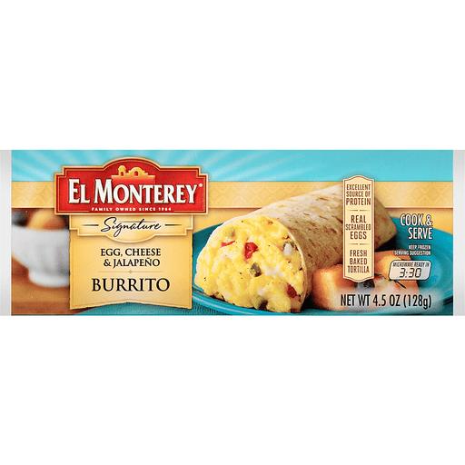 El Monterey Signature Burrito, Egg, Cheese & Jalapeno