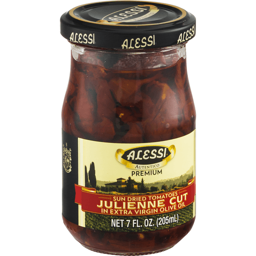 Alessi Tomatoes, Sun Dried, in Extra Virgin Olive Oil, Julienne Cut