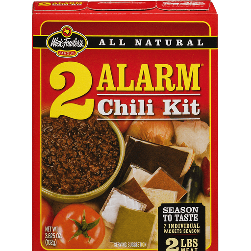 Wick Fowler's Texas Style 2 Alarm Chili Kit - 7 CT