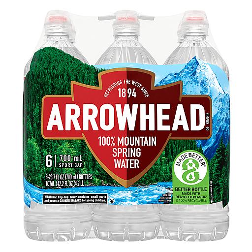 Arrowhead 100% Mountain Spring Water 6 ea