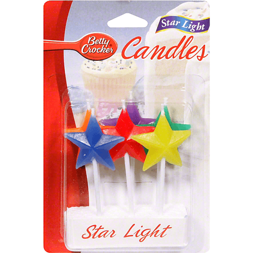 Star cake candles