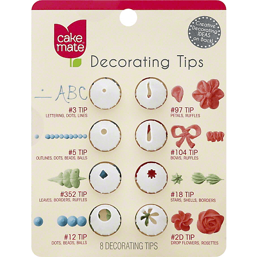 Cake Mate Decorating Tips - 8 CT