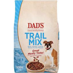 Dad's Food For Adult Dogs Trail Mix Beef Chicken Cheese Bacon & Liver Flavors