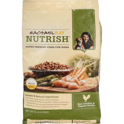 Rachael Ray Nutrish Food for Dogs, Super Premium, Real Chicken & Veggies Recipe