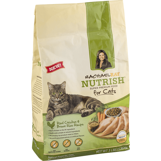 Rachael Ray Nutrish Super Premium Food For Cats Real Chicken & Brown Rice Recipe