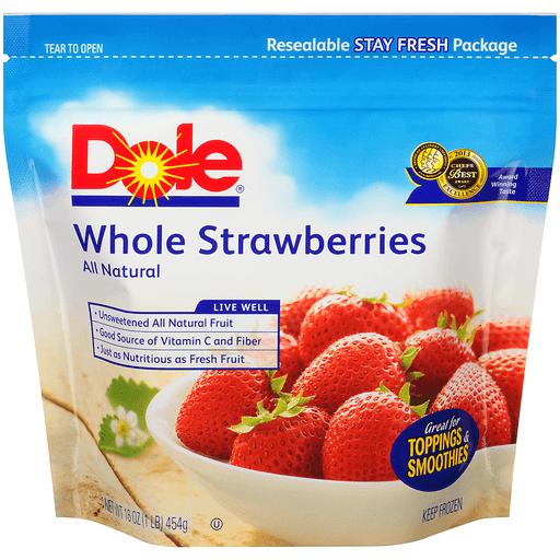 Dole® Whole Strawberries 16 oz. Pouch