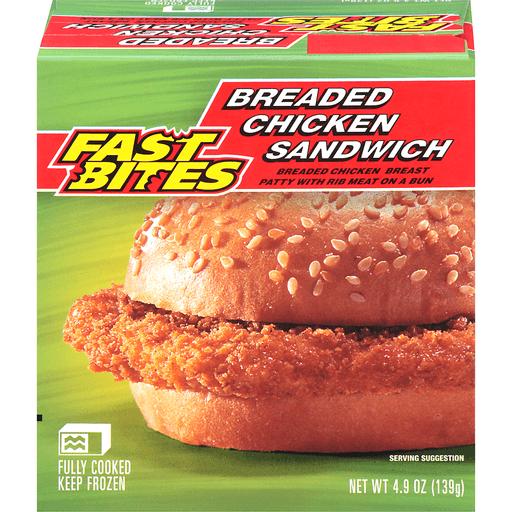 Fast Bites Breaded Chicken Sandwich 49 oz Box