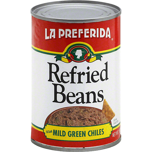 La Preferida Refried Beans, with Mild Green Chiles