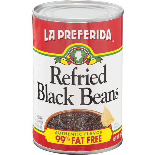 La Preferida Black Beans, Refried