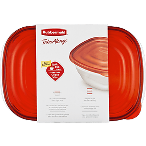 Rubbermaid Take Alongs Containers, with Lids, Large Rectangle, 1 Gallon