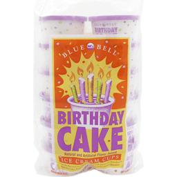 Blue Bell Ice Cream Cups Birthday Cake