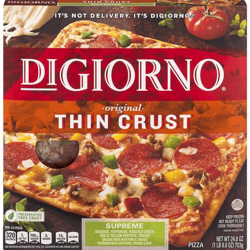 DiGiorno Pizza, Classic Thin Crust, Supreme Pizza