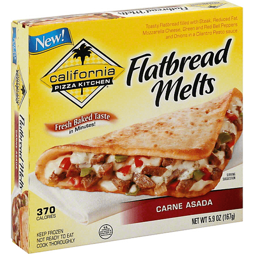 California Pizza Kitchen Flatbread Melts Carne Asada Pizza Oak Point Market