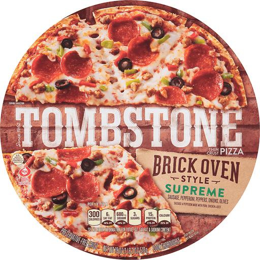 TOMBSTONE Brick Oven Style Thin Crust Supreme Pizza 18 oz.