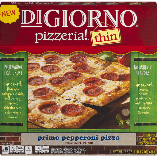 DiGiorno Pizzeria! Pizza, Hand-Tossed Style Thin Crust, Primo Pepperoni