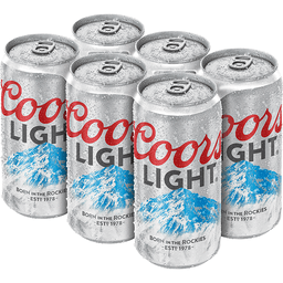 Coors Light Beer 6 Pack