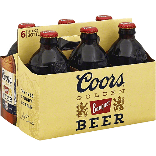 Coors Golden Banquet Beer - 6 PK