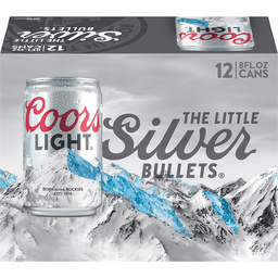 Coors Light® Beer 12 8 Fl. Oz. Cans