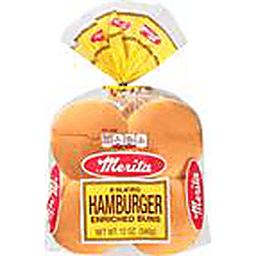Merita Sliced Hamburger Enriched Buns 8 Ct Bag Fairvalue Food Stores