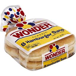 Wonder Classic Hamburger Buns 8 Ct Mt Plymouth