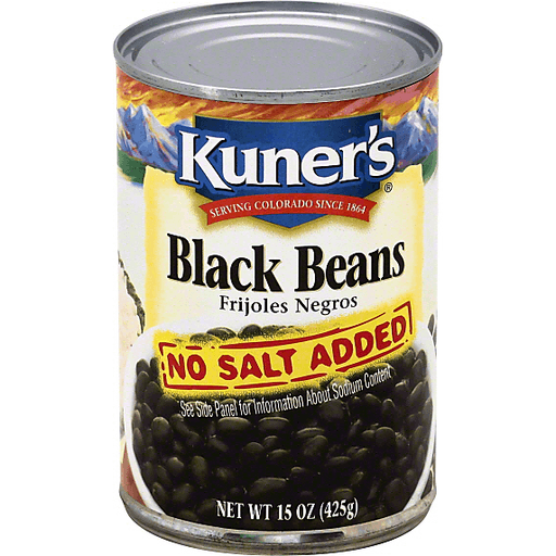 Kuners Black Beans, No Salt Added