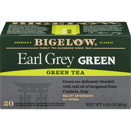Bigelow Green Tea, Earl Grey Green, Bags