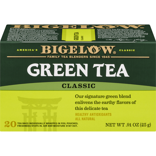 Bigelow Green Tea, Classic, Bags