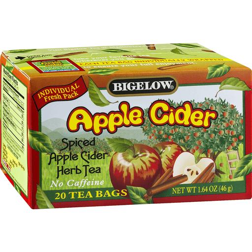 Bigelow Herb Tea, Spiced Apple Cider, Caffeine Free, Bags