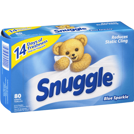 Snuggle Fabric Softener Sheets, Blue Sparkle