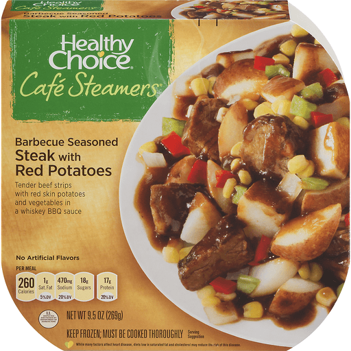 Healthy Choice Cafe Steamers Top Chef Barbecue Seasoned Steak with Red Potatoes