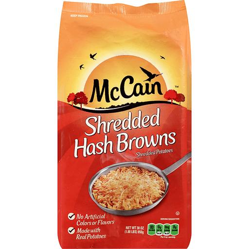 McCain™ Shredded Hash Browns Potatoes 30 oz. Bag